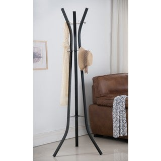 K and B Furniture Co. Inc. Black Metal 9-hook Coat and Hat Stand