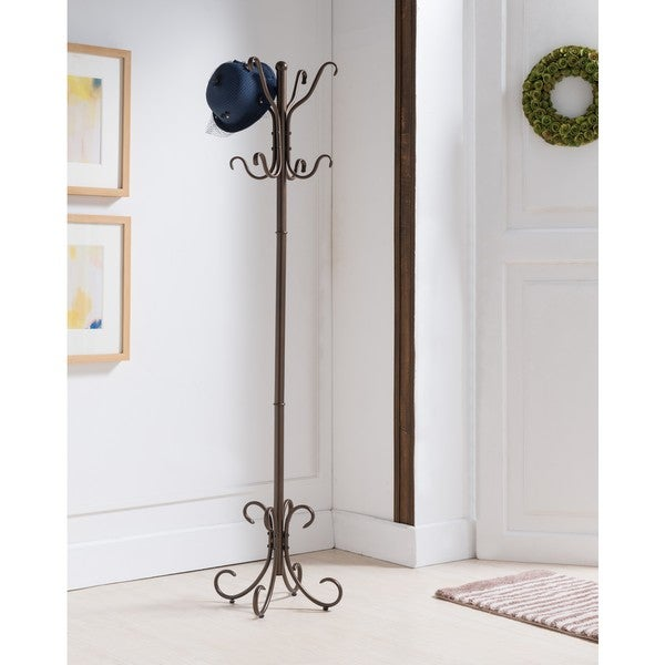 K and B Furniture Co. Inc. Copper Metal 8-hook Coat and Hat Rack
