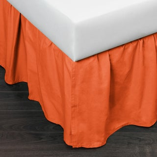 Brighton Persimmon Cotton 24-inch Drop Bed Skirt