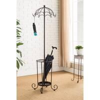 K and B Furniture Co. Inc. Bronze Metal 10-hook Coat Rack