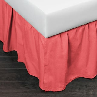 Brighton Coral Cotton Bed Skirt