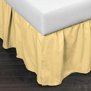 Brighton Light Yellow Cotton Bed Skirt