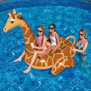 Swimline Giant Giraffe 96-inch Inflatable Ride-on Pool Toy