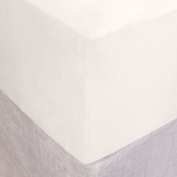 Ivory Cotton Box Spring Cover