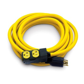 Champion 25-Foot 30-Amp 125/250-Volt Duplex-Style Generator Extension Cord with Circuit Breakers (L14-30P to four 5-20R)