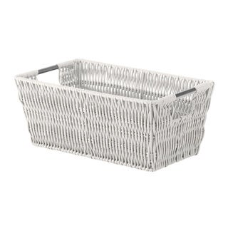 Whitmor Rattique Grey Small Shelf Storage Tote
