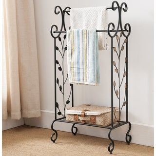 Black Metal Towel Rack