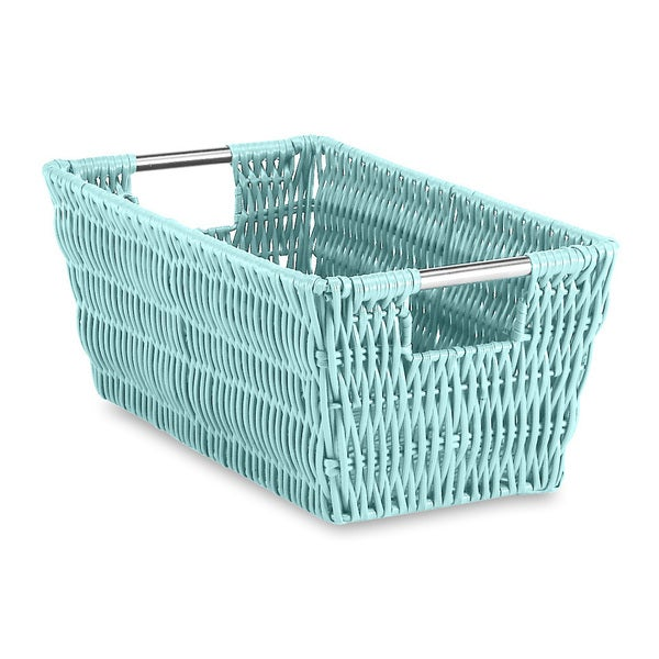 Whitmor Rattique Small Shelf Storage Tote