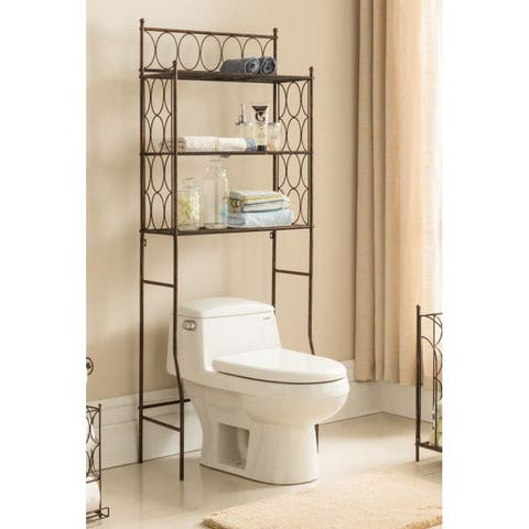 Copper Iron 3 Tier Bathroom Rack