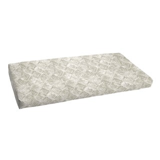 Fellows Grey and White Indoor/ Outdoor 48-inch Bench Bristol Cushion