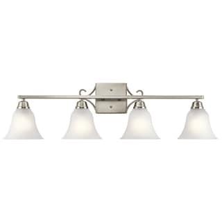 Kichler Lighting Bixler Collection 4-light Brushed Nickel Bath/Vanity Light
