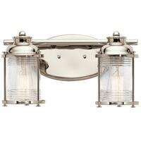Kichler Lighting Ashland Bay Collection 2-light Polished Nickel Bath/Vanity Light