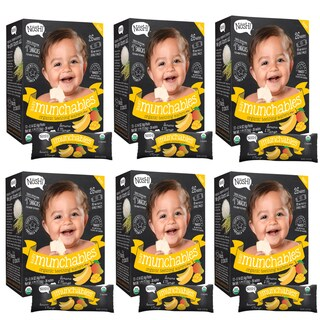 Nosh Baby Munchables Banana Mango Organic Rice 26-piece Teething Wafers (Pack of 6)