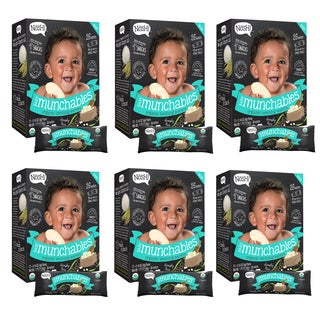 Nosh Baby Munchables Simply Rice Organic Rice 26-Piece Teething Wafers (Pack of 6)