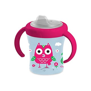 NUK Gerber Graduates Owls Multicolor Silicone Advance 2-handle 7-ounce Trainer Spout Cup
