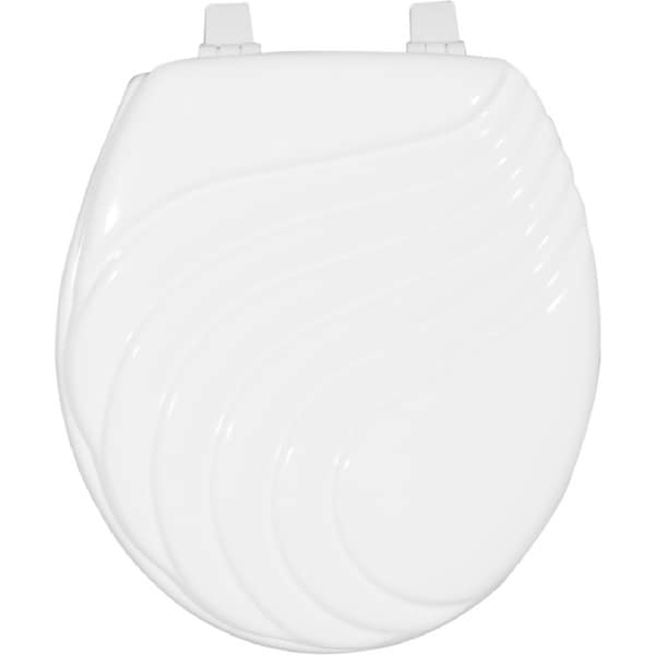 Shop Painted Wave Design Elongated Toilet Seat Free