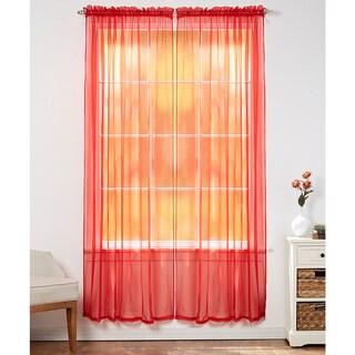 Linda Sheer Voile 4 Pack Window Curtain Panel Pairs