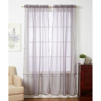 Linda Sheer Voile 4 Pack Window Curtain Panel Pairs - 55 x 84