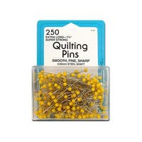 """Collins Quilting Pins 1.75"""" Yellow Head 250pc"""