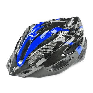 Unisex Multicolor Carbon Fiber Bike Helmet