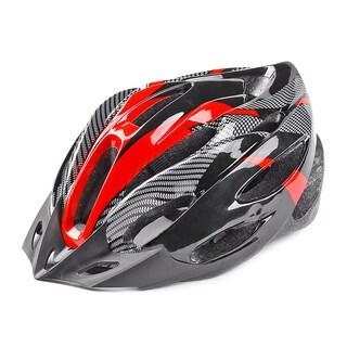 Unisex Multicolor Carbon Fiber Bike Helmet
