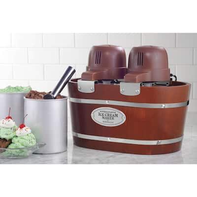 Nostalgia ICMW200DBL 4-Quart Electric Double Flavor Ice Cream Maker