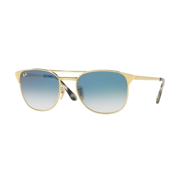 Shop Ray Ban Rb3429m 001 3f Unisex Signet Gold Frame Light