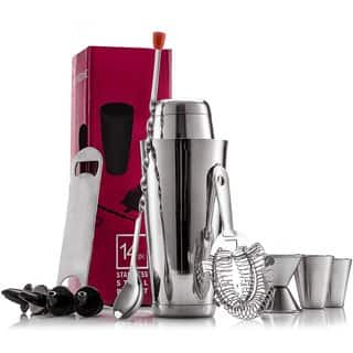 Finedine Expert Stainless Steel 14-piece Cocktail Shaker Home Bar Tool Set|https://ak1.ostkcdn.com/images/products/15002723/P21501795.jpg?impolicy=medium