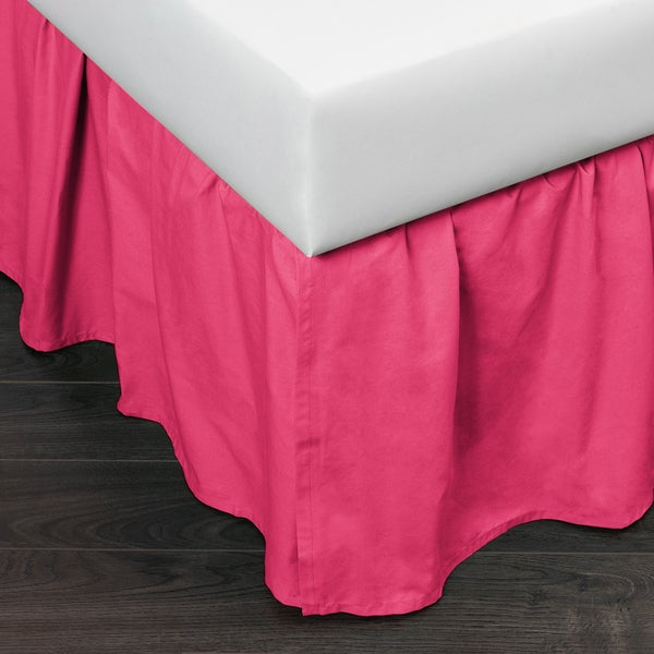 Brighton Hot Pink Cotton 24-inch Drop Bed Skirt