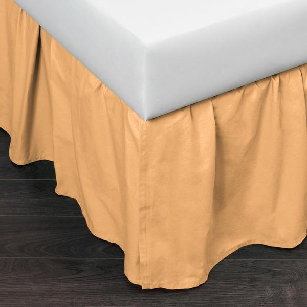 Brighton Golden Yellow Cotton 24-inch Drop Bed Skirt