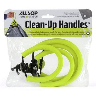Allsop Clean-Up Handles Green Synthetic Canvas Handles