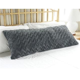 Steel Grey Plush Body Pillow