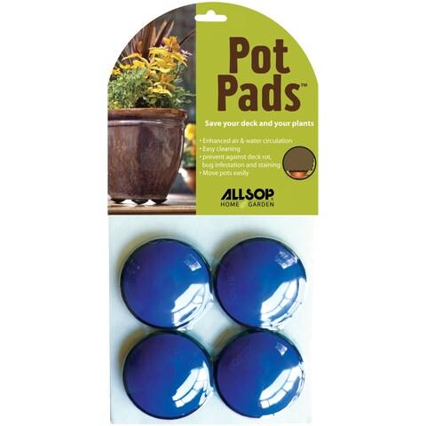 Allsop Cobalt Blue Pot Pads (Pack of 4)