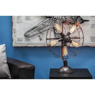 Urban Designs 24-inch Edison Vintage Fan Style Table Lamp
