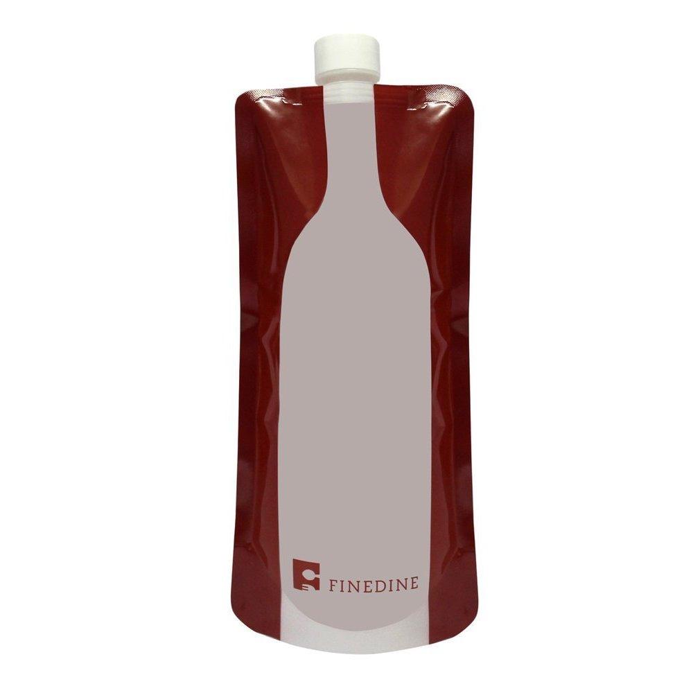 FineDine Plastic Reusable,Foldable, Flexible Wine Bag Fla...