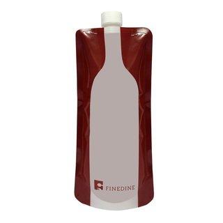 FineDine Plastic Reusable,Foldable, Flexible Wine Bag Flask