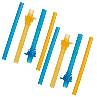 Munchkin Blue/Orange Click Lock Replacement Straws (Pack of 4)