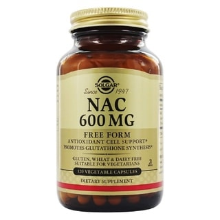 Solgar NAC 600 mg (120 Vegetable Capsules)