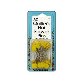 "Collins Flat Flower Pin Quilter's 2"" 50pc"