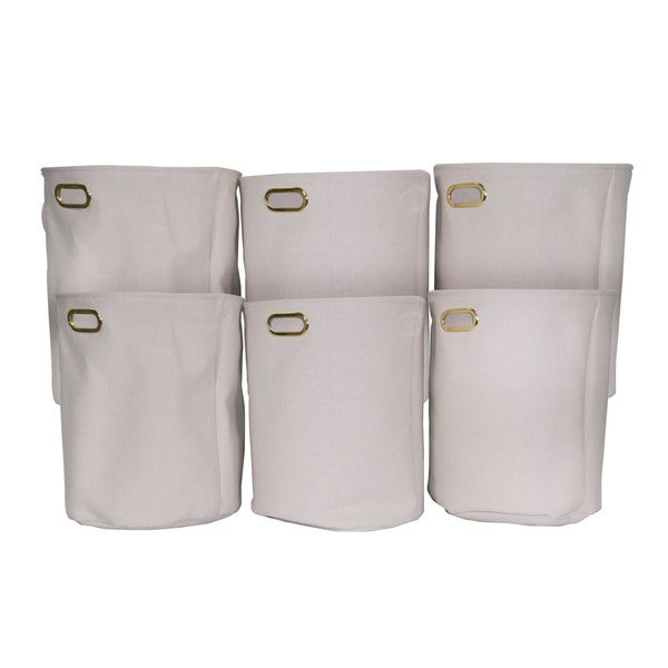 Shop Laundry Hamper With Gold Decorative Handles Set Of 6