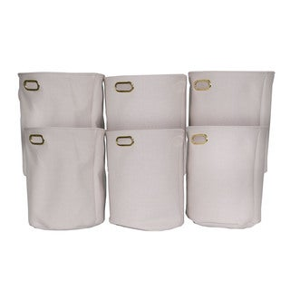Laundry Hamper with Gold Decorative Handles (Set of 6)