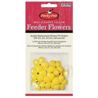 Perky Pet 9 Piece Yellow Hummingbird Feeder Replacement Flowers