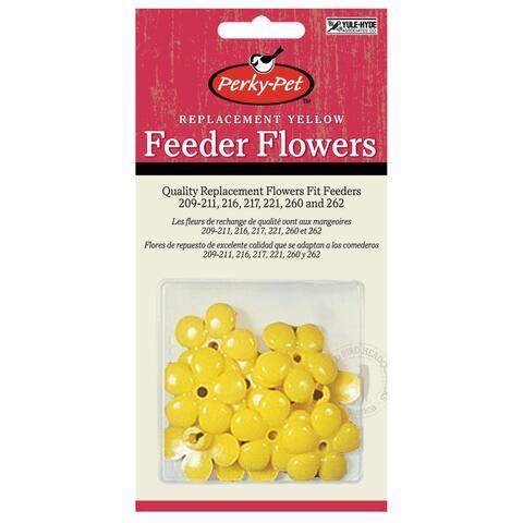 Perky Pet 9 Piece Yellow Hummingbird Feeder Replacement Flowers