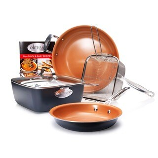 Gotham Steel Pantastic 7 Piece Cookware Set Non-stick Ti Cerama