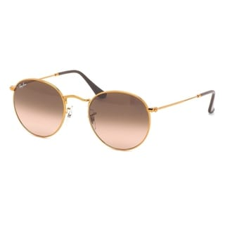 Ray-Ban RB3447 9001A5 Unisex Round Bronze-Copper Frame Pink/Brown Gradient Lens Sunglasses