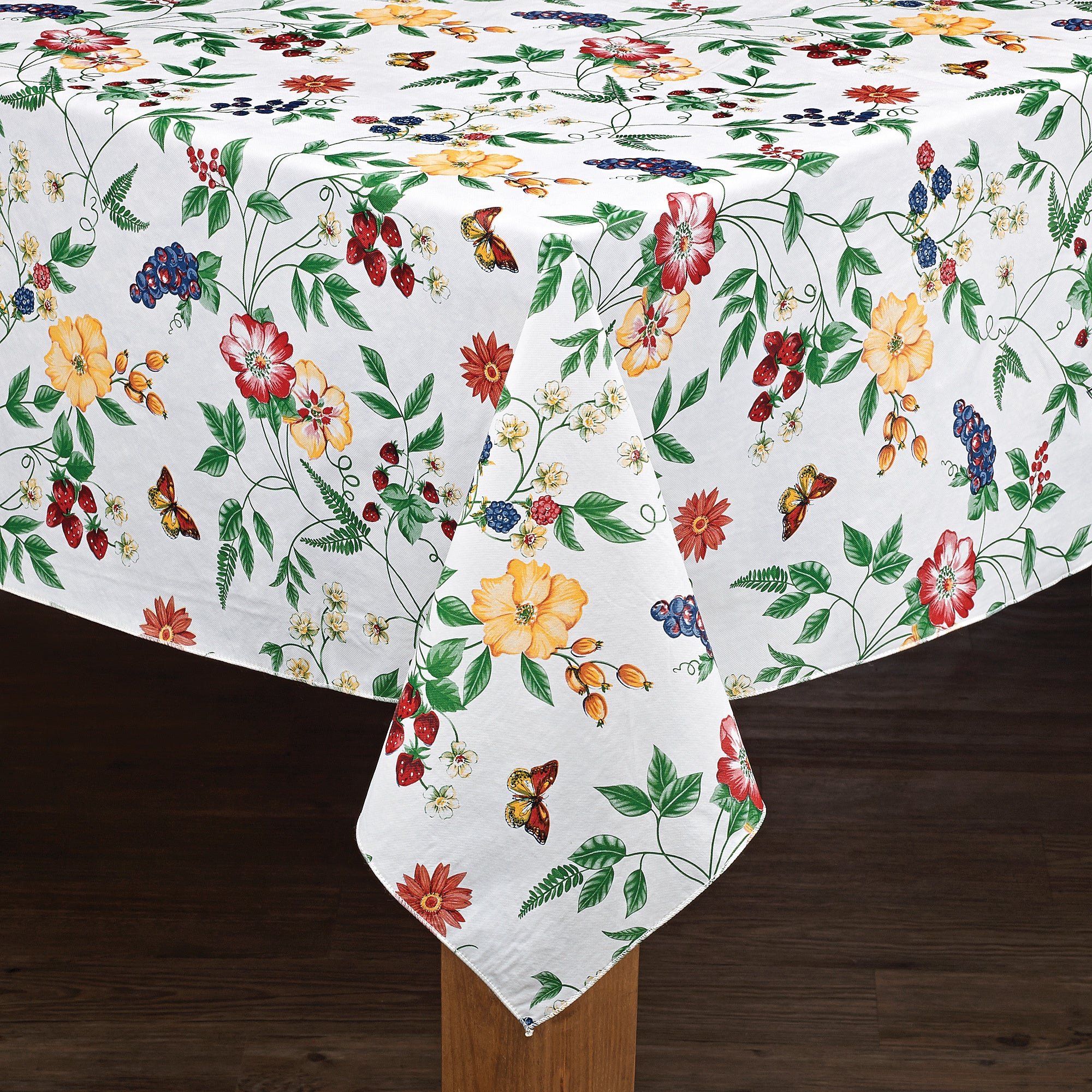 Enchanted Floral Garden Vinyl Tablecloth (60x104), Multi