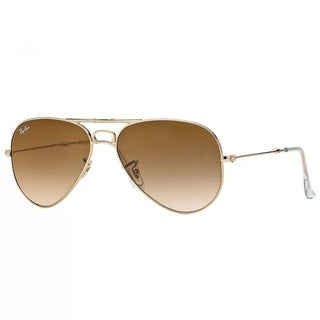 Ray-Ban RB3479 001/51 Unisex Aviator Folding Gold Frame Brown Gradient Lens Sunglasses