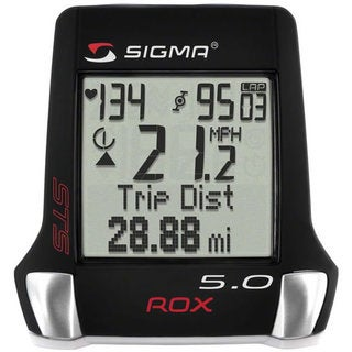 Sigma ROX 5.0 Triple Black Wireless Cycling Computer with Speed, Cadence and Heart Rate