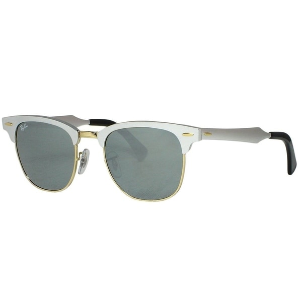 bfc4042df8898 Ray-Ban RB3507 137 40Unisex Clubmaster Silver Frame Silver Mirror Lens  Sunglasses