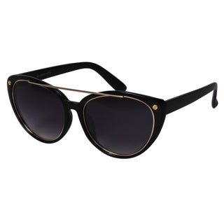 Mechaly MES2301 Women's Black Oval Sunglasses